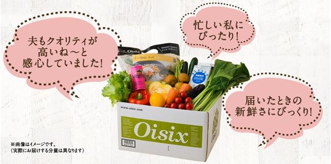オイシックスの新鮮野菜宅配サービス