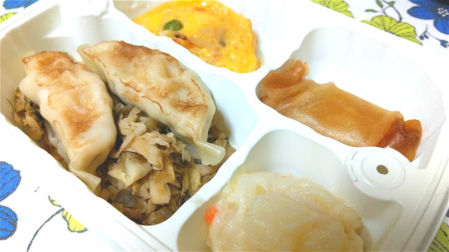 焼き餃子弁当2