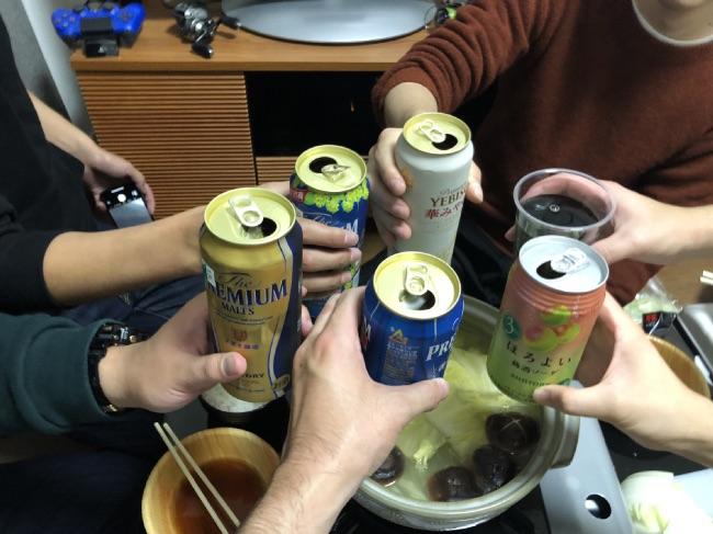 北釧水産のカニを囲んで乾杯!